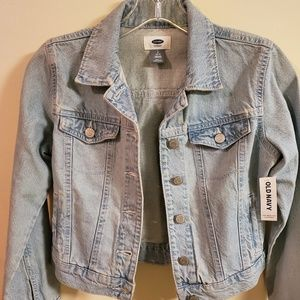 Old Navy midriff Jean Jacket youth. NWT. midriff.